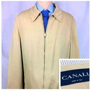 Canali Rayon Silk Windbreaker Size Men's XL